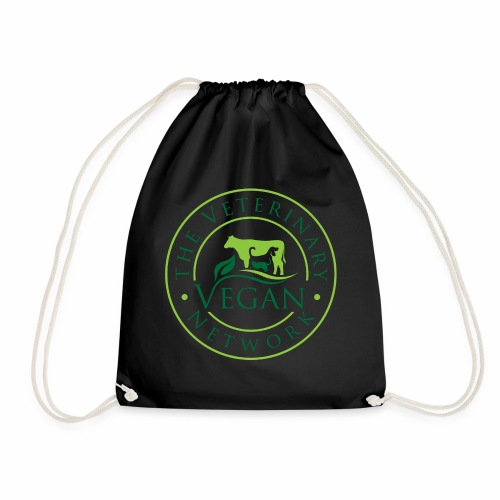 Veterinary Vegan Network Logo - Drawstring Bag