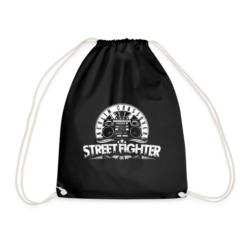 Street Fighter Band White - Drawstring Bag