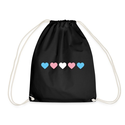 Trans-Heart - Drawstring Bag