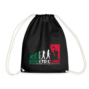 ROCK CLIMBING EVOLUTION BORN TO CLIMB ITALY - Drawstring Bag