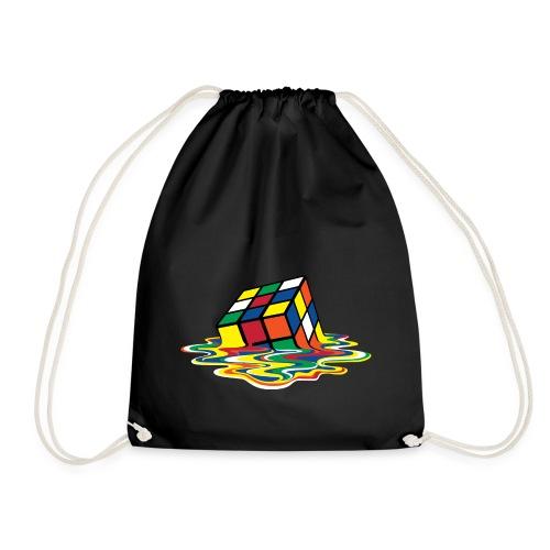Rubik's Cube Melted Colourful Puddle - Sportstaske