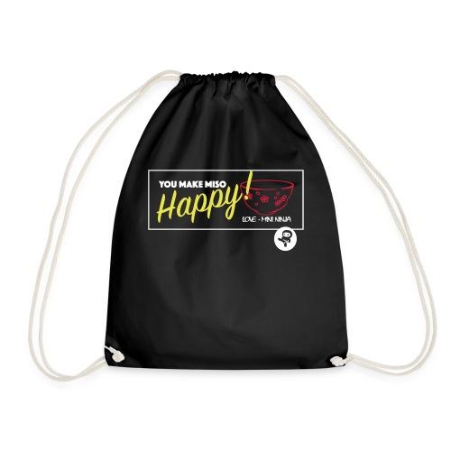 You make miso happy :) - Drawstring Bag