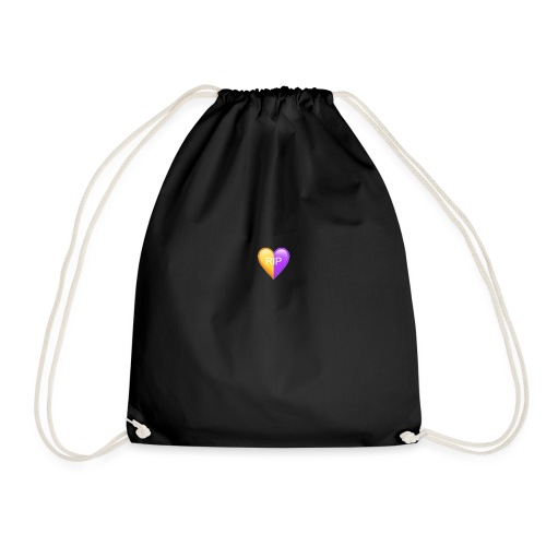 RIP Kobe Yellow / Purple Heart - Drawstring Bag