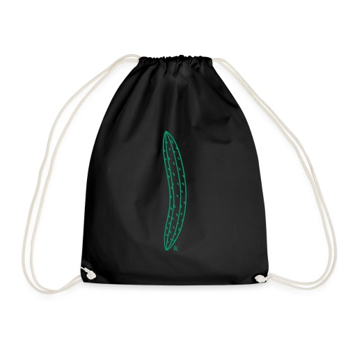 Green Cucumber Vertical - Drawstring Bag