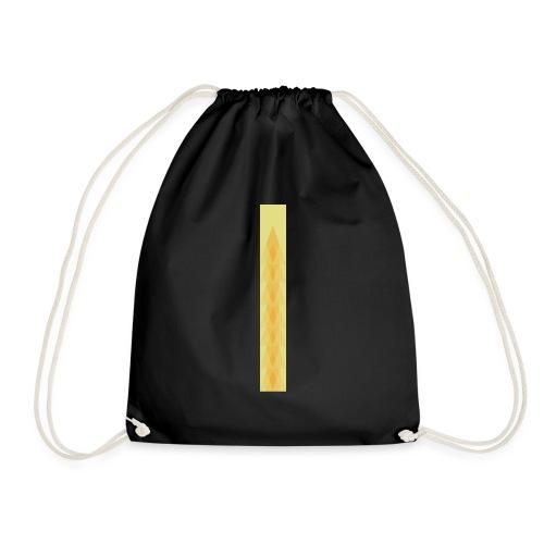 Vintage deco design orange and green triangles - Drawstring Bag