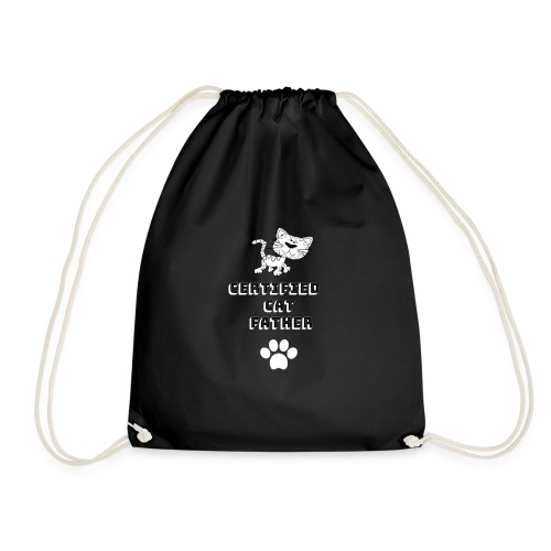Certified Cat Father - Drawstring Bag