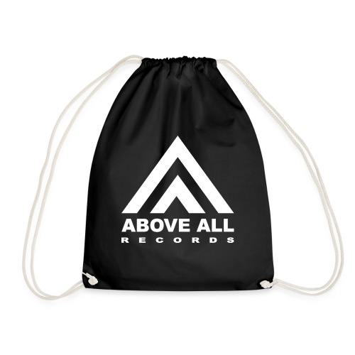 Above All logo White - Drawstring Bag