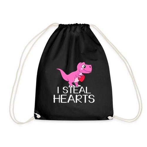 I steal hearts T-Rex - Turnbeutel
