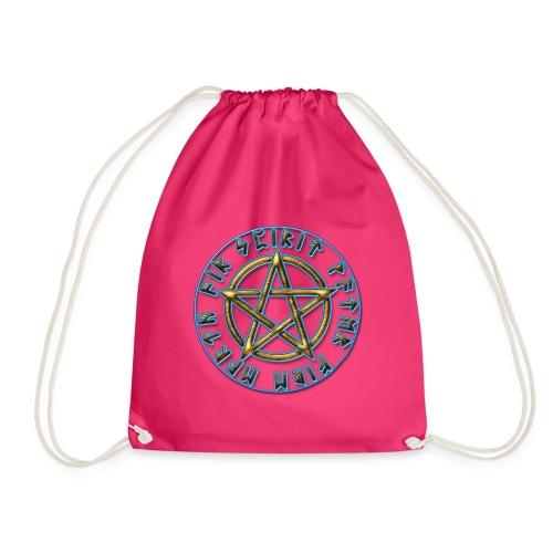 Runen Pentagramm Elemente Schutz Amulett Magie - Turnbeutel