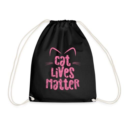 Cat Lives Matter Katzen sind auch wichtig - Turnbeutel