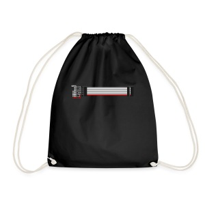 Red stripe down! - Drawstring Bag