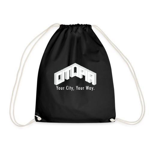 Logo with Slogan - Drawstring Bag