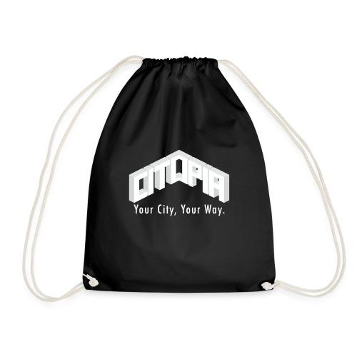 Logo with Slogan - Drawstring Bag
