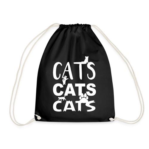 cats cats cats Weiss - Turnbeutel