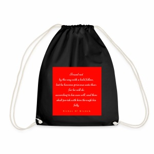 Travel not by the way with a bold fellow - Drawstring Bag