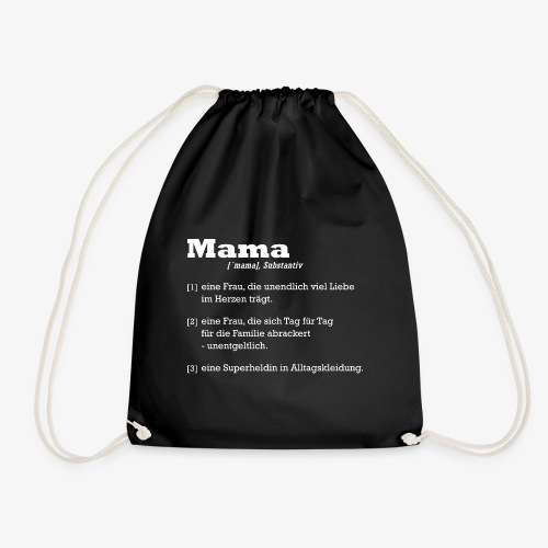 Mutter Mama Bedeutung Muttertagsgeschenk - Turnbeutel