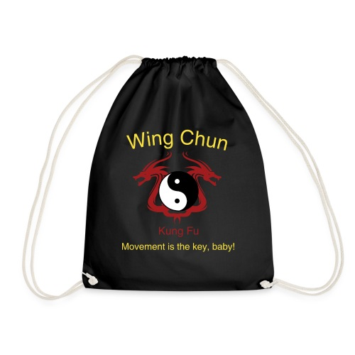 Wing Chun Logo gelb - Movement is the key, baby! - Turnbeutel