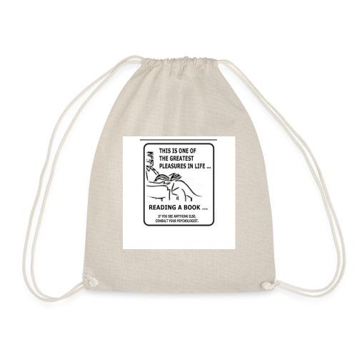 reading book - Drawstring Bag