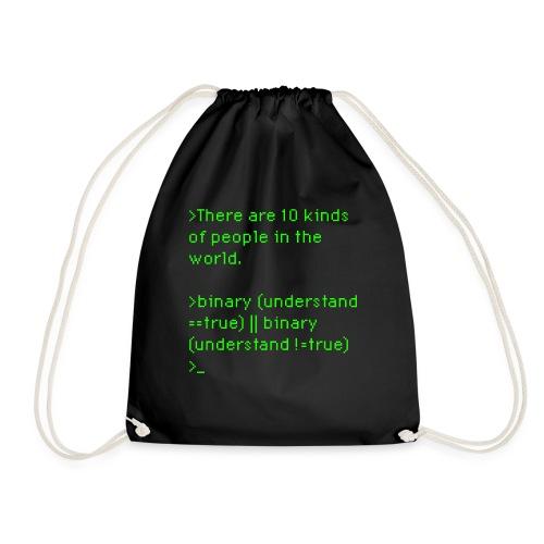 binary-understanding - Drawstring Bag