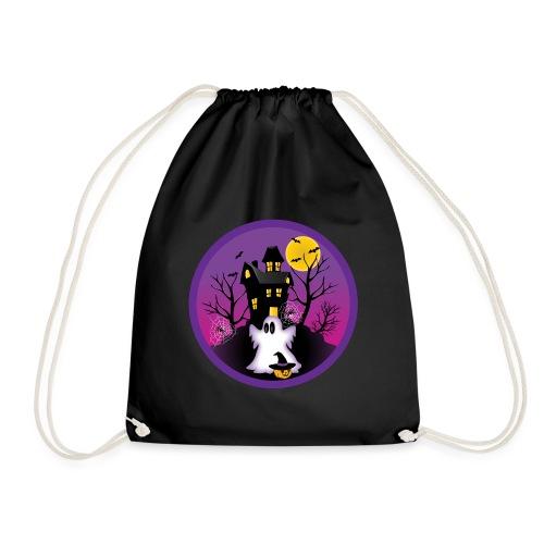 Spooky Halloween Ghost - Drawstring Bag