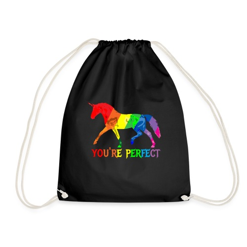 Regenbogen Einhorn - You´re perfect - Turnbeutel