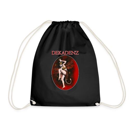 Vintage Dancing Devil Lady - Drawstring Bag