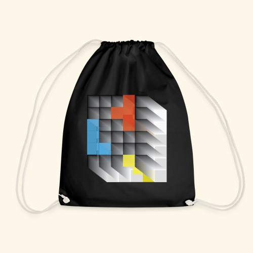 Vintage Block Game - Drawstring Bag