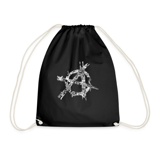 Punk Flyer Anarchy Symbol - Drawstring Bag