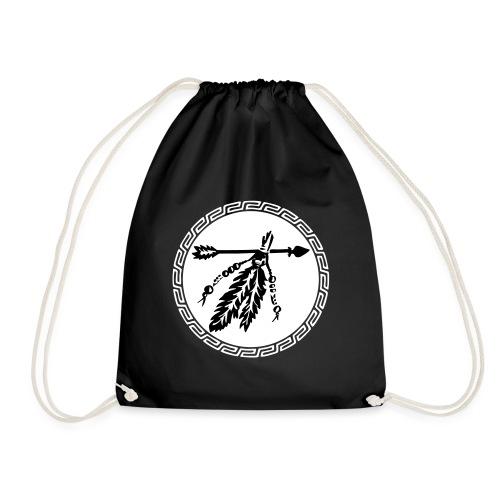 Pfeil mit Federn, Schutz & Kraft Symbol, Indianer - Turnbeutel
