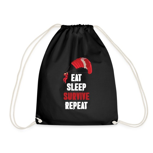 Eat - sleep - SURVIVE - repeat! - Worek gimnastyczny