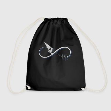 I love windsurfing gift / design - Drawstring Bag