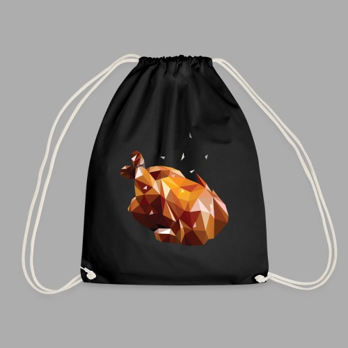 Turkey polyart - Drawstring Bag