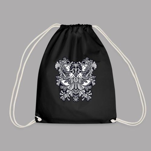 moth black - Drawstring Bag