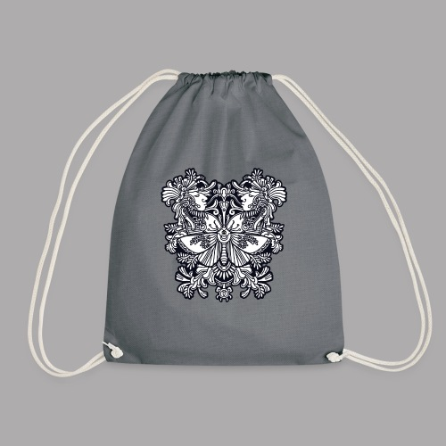 moth black - Drawstring Bag
