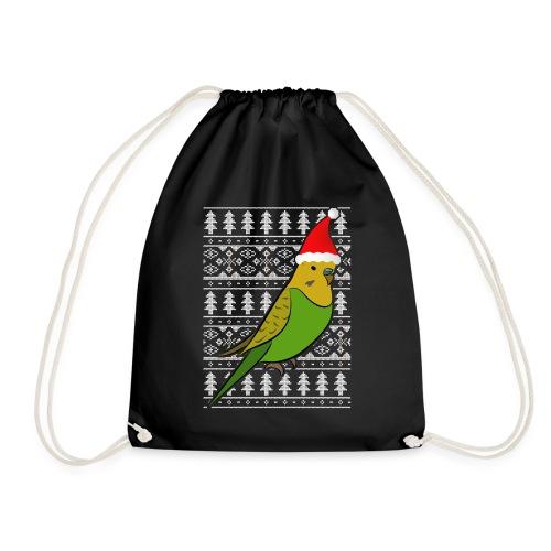 Wellensittich Muetze Geschenk Weihnachten Ugly Chr - Turnbeutel