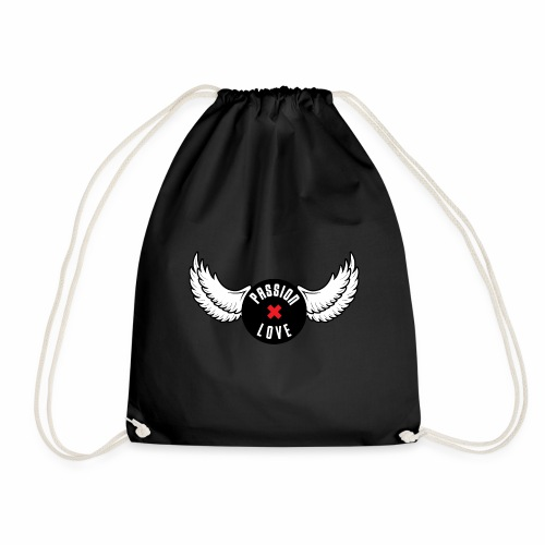 Passion x Love Black and white - Drawstring Bag