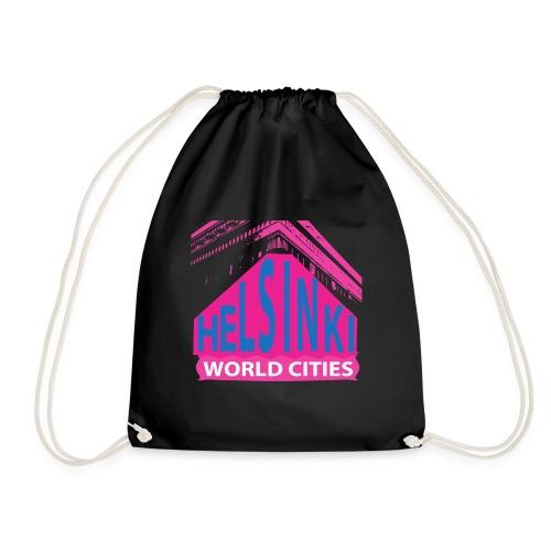 Helsinki2 pink2 - Drawstring Bag
