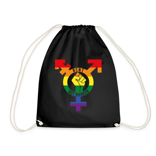 bent not broken - Drawstring Bag