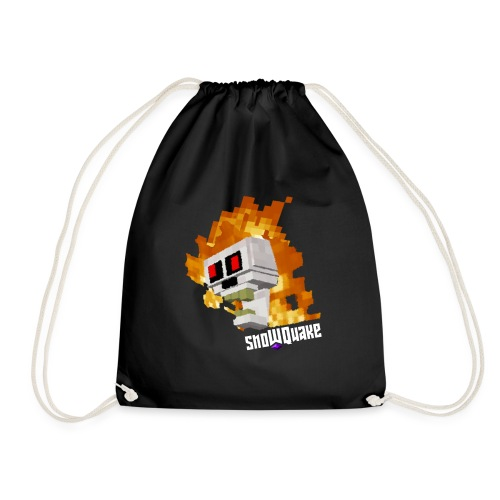 SnoWQuake skull logo - Drawstring Bag