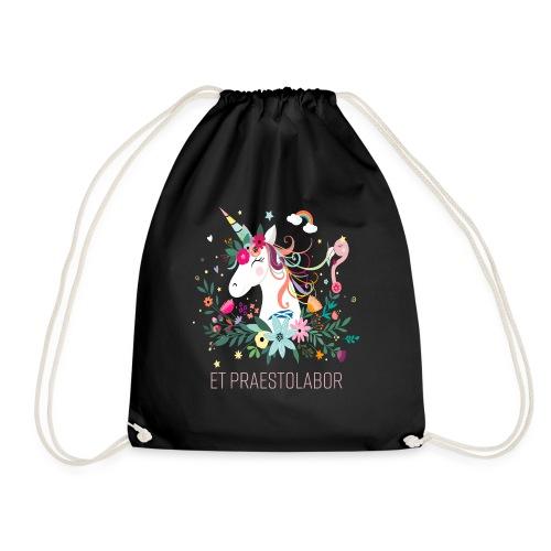 White Unicorn Wait & Hope - Drawstring Bag