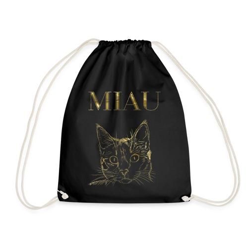 Katze Miau Gold - Turnbeutel