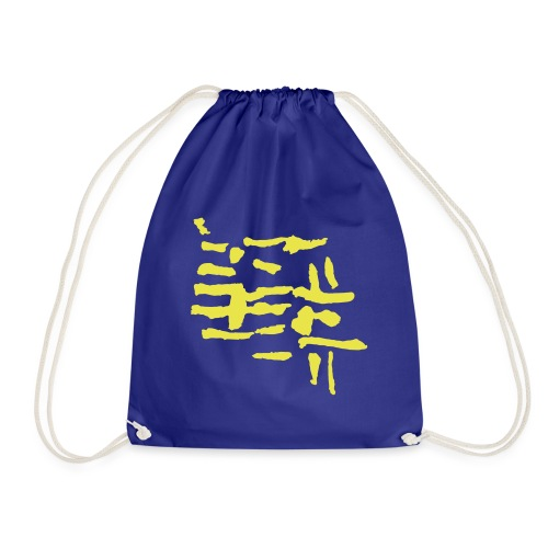 Structure / VINTAGE abstract - Drawstring Bag