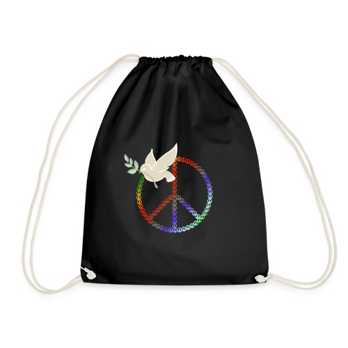Peace Design | Taube mit Zweig - Turnbeutel