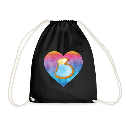 Be a B Heart - Drawstring Bag