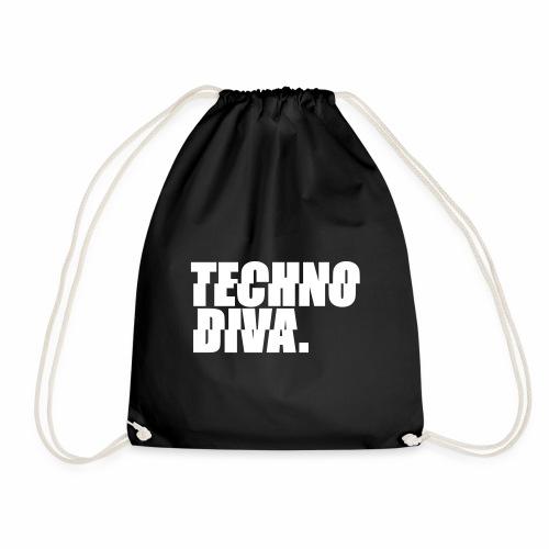 Techno DlVA Rave Princess Hard Techno Kind Music - Turnbeutel