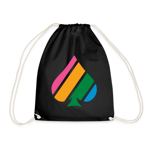 Colored Stripes Logo - Drawstring Bag