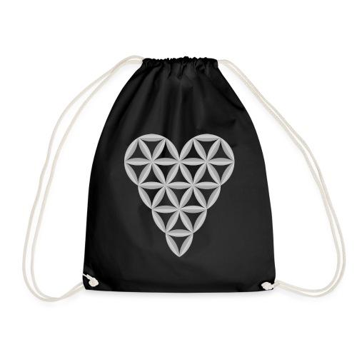 The Heart of Life x 1, New Design /Atlantis -01 - Drawstring Bag