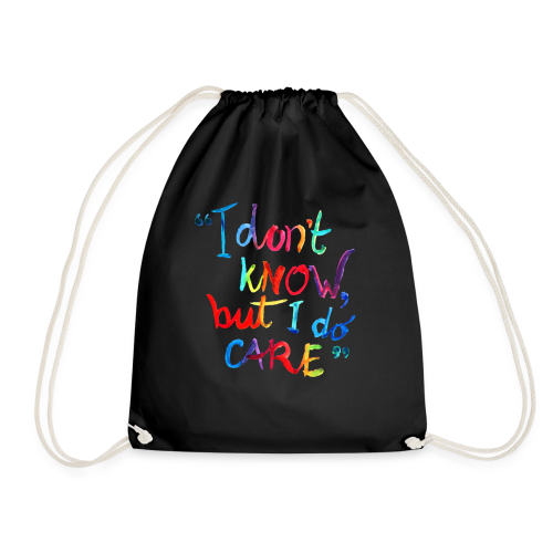 I don't know, but I do care t-shirt rainbow quote - Gymtas