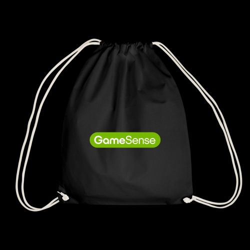 Clothing with green gamesense.pub - logo - Drawstring Bag