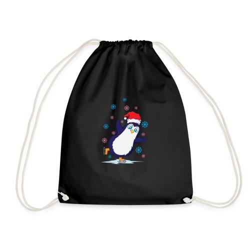 Weihnachten Pinguin Schlittschuh laufen - Turnbeutel
